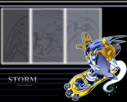 Storm wallapaper by Faezza