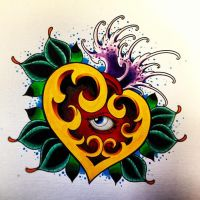 heart tattoo design by jerrrroen