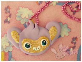 Aipom Cookie Necklace by ChibiWorks