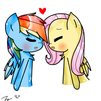 Let's kiss , Fluttershy ! by Rinka-Anne8