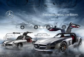 SLS AMG_300 SL illustration by yasiddesign