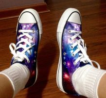 heck yeah GALAXY SHOES by Milkii-Ways