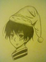 Japan in santa hat by FMLRawr