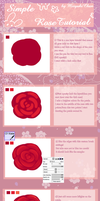 Simple Rose Tutorial by Maruuki