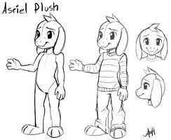 Asriel Plush Concept art by Skeleion