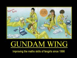 Gundam Wing Demotivational by ddraigcoch