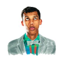 Painting Stromae by Bjergsen