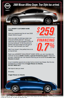 New Nissan Altima Email Design by xstortionist