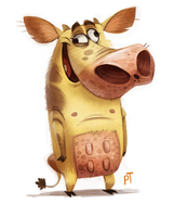 Day 535. Cow and Chicken by Cryptid-Creations