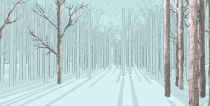 Siberian Forest WIP 1 by PeterHammerson