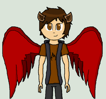 .:giftART:. Jack the Fire Griffin by pinkraindrops03