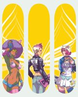 sk8tin gals by Dmitrys