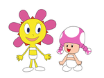 Sunny-chan and Toadette in underwear by MamonFighter761