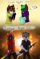 Guys night out by XShadowstar