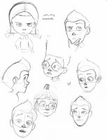 Meet The Robinsons Sketches Practice by ShoyzzFanArt