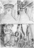 Sketches - streets of Florence by P-the-wanderer