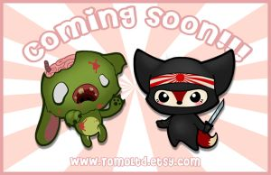 Zombie and Ninja Fox - Kawaii Necklace Design by TomodachiIsland