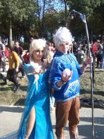 General Jack Frost and Elsa by LordProtoMan