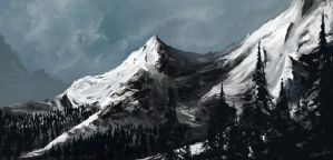 snowy mountain by Bawarner