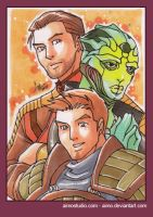PSC Carth, Thane and Alistair by aimo