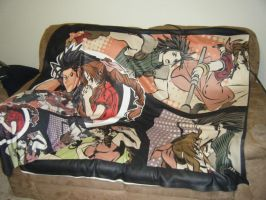 Zack and Aeris 50x60 Blanket and pillowcase by Kaytes-Blanket-Sets