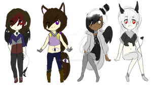 Humanoid sketchy Adoptables Auction #4(Closed 0/4) by Ameah1234