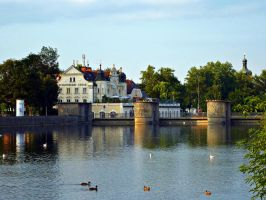 Isar River in Landshut by CoFFeeZomBee