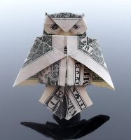 Dollar Bill Owl by craigfoldsfives