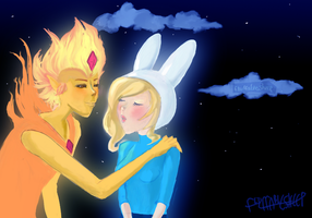 Advent Request #14: Fionna+Flames by FluffableSheep