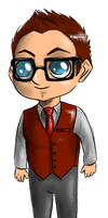 Minis 34 - Harold Finch by FuriarossaAndMimma