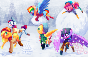 Snow war by Halem1991
