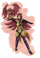 Quinn phoenix skin by pixelated-nightmare