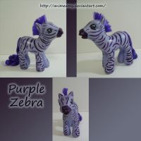 Purple Zebra by AnimeAmy