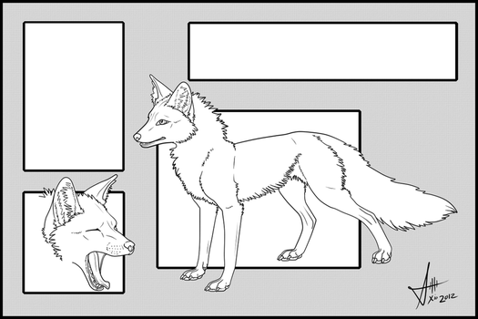 Fox: Free to use Refsheet Template by Xio by amusedinsanity
