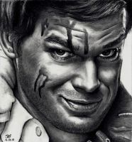 Dexter Morgan - Michael C Hall by Rick-Kills-Pencils