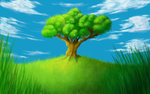 Arbol Solitario / Lonely Tree by Adriex-Designs