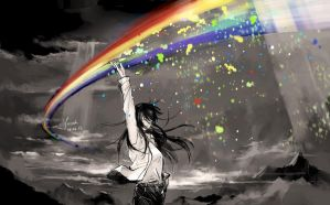 A rainbow which you can touch by yoeah