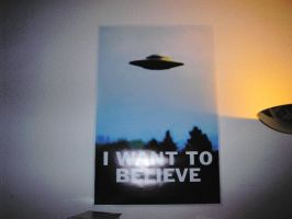 I want to believe poster by Pencilshade