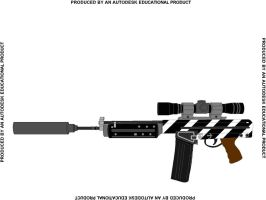 Zebra Assault Rifle Colored by anepictimelord