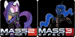 Mass Effect 2 and 3 Pony Icons by 1nfiltrait0rN7