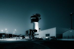 ..airport after dark... by Espen-Alexander