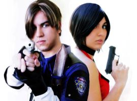 Leon and Ada from Resident Evil series by ThiagK