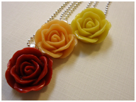 Rose Necklaces by cellsdividing