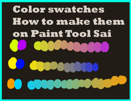 Create custom color swatches on Sai VIDEO TUTORIAL by pampd