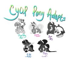 [OPEN] CYOP Pony Adopts by EventidePonies
