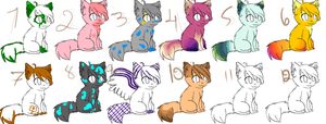 Adoptables, I guess?[Closed] by Lilmissepic222