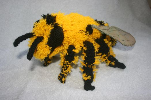 Crochet Honey Bee by Soggy-Wolfie