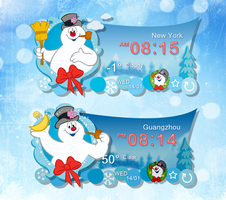 Frosty The Snowman Widget for xwidget by jimking