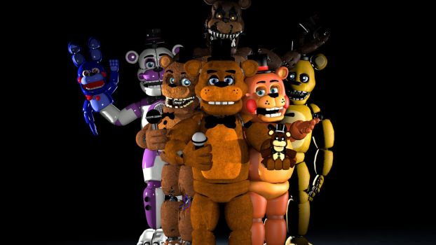 All  The Freddys by TheFuckingPuppet