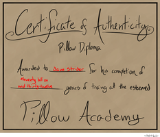 Certificate of Authenticity by cheriboo